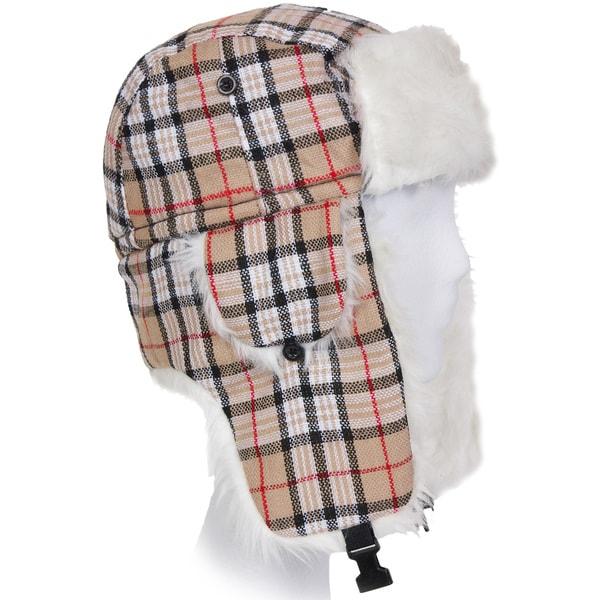 Solegear Plaid Winter Trapper Hat