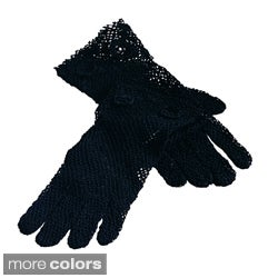 Saro Handmade Machine Washable Fine Crochet Lace Gloves