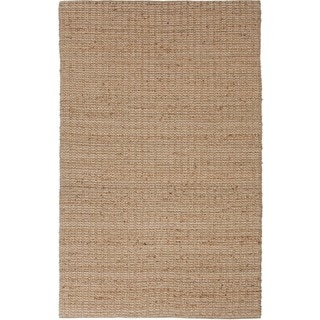 Natural Solid Jute Beige/ Brown Rug (8' x 10')