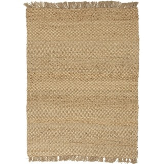 Natural Solid Hemp/ Jute Beige/ Brown Rug (2'6 x 4')