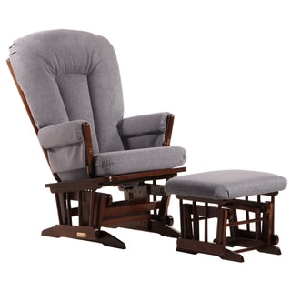 Dutailier Ultramotion Coffee/Dark Grey 2-post Glider and Ottoman Set