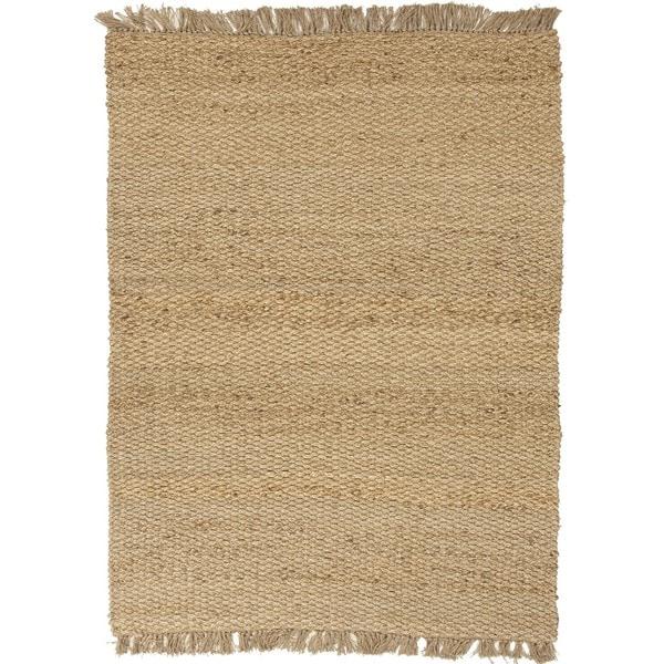 Natural Solid Hemp/ Jute Beige/ Brown Rug (8' x 10')