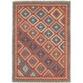 Handmade Flat Weave Tribal Multicolor Wool Accent Rug (2' x 3')