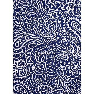 Indoor/ Outdoor Abstract Blue Rug (9' x 12')