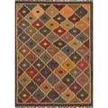 Small Handmade Flat Weave Tribal Multicolor Jute Rug (2' x 3')