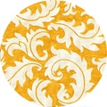 Tufted A43 Transitional Gold/ Yellow Wool/ Silk Round Rug (8' x 8')