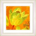 Studio Works Modern 'Golden Tulip - Yellow' Framed Giclee Print