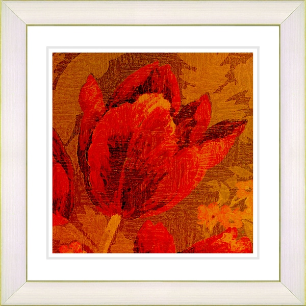 Studio Works Modern 'Symphony in Red - Tulip' Framed Giclee Print