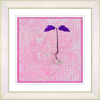 Studio Works Modern '6 Steps Off the Ground - Pink' Framed Giclee Print