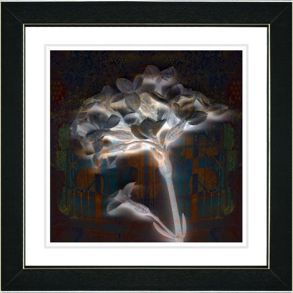 Studio Works Modern 'Amber Montage Floral' Framed Giclee Print