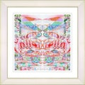 Studio Works Modern 'Stella Home - Red' Framed Giclee Print