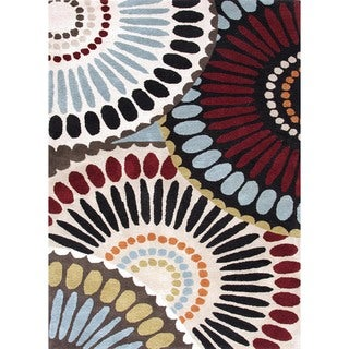 Hand-tufted Abstract Wool Rug (5' x 8')