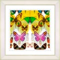 Studio Works Modern 'Butterfly Montage - Yellow' Framed Print