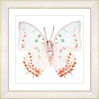 Studio Works Modern 'White Butterfly - Red' Framed Print