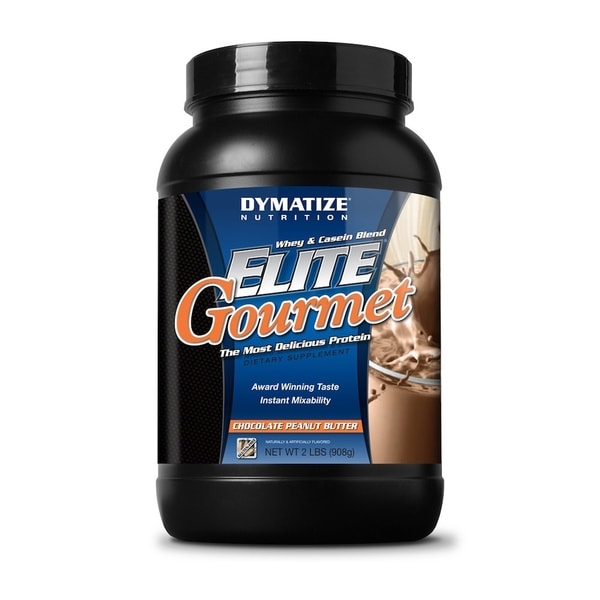 Elite Gourmet Whey & Casein Blend Protein Supplement (2 Pounds)