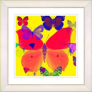 Studio Works Modern 'Red Butterfly Montage' Framed Print