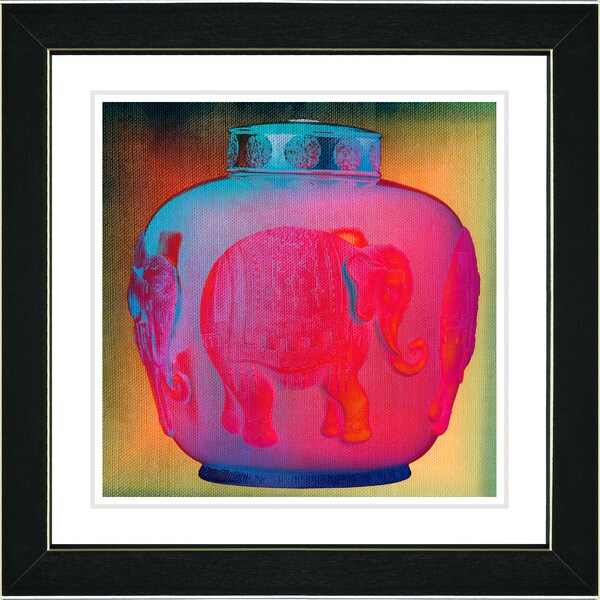 Studio Works Modern 'Red Elephant Urn' Framed Print 10379896