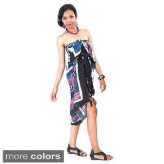 Handcrafted Multicolored Abstract Graphic Sarong (Indonesia)