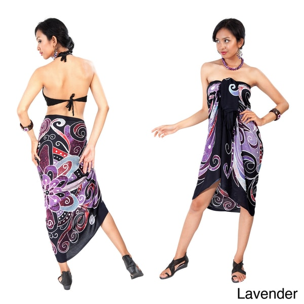 Handcrafted Abstract Design Sarong (Indonesia)