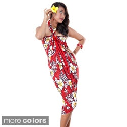 Vivid Hibiscus Flower Sarong (Indonesia)
