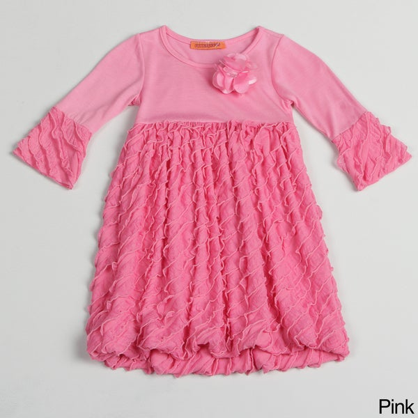 Funkyberry Girls Ruffled Mini Dress