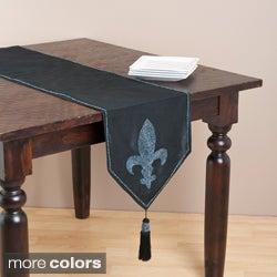 Saro 72-inch Rectangular Fleur-de-lis Table Runner