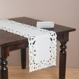 Saro 72-inch Rectangular Embroidered Table Runner