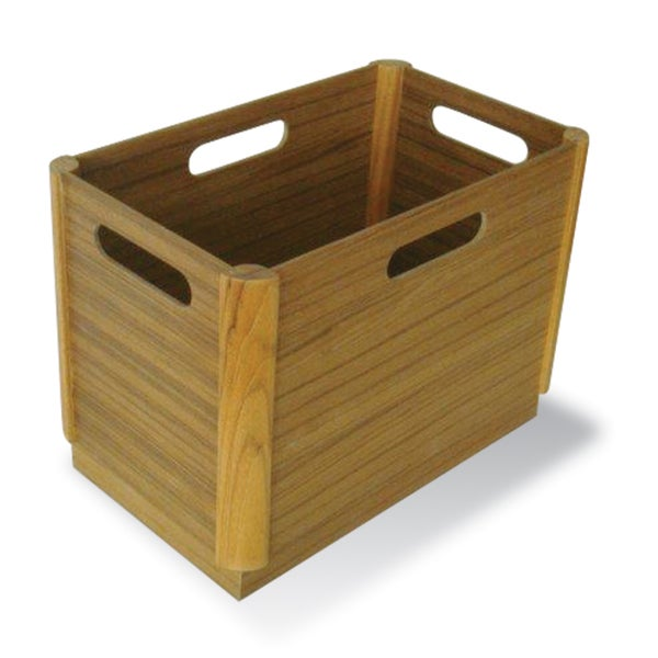 Teak Wood Waste Basket