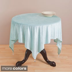 Saro 54-inch Square Velvet Table Topper
