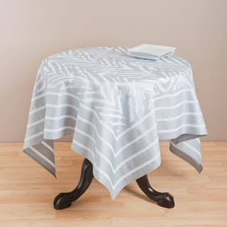 Saro 60-inch Square Printed Zebra Table Topper