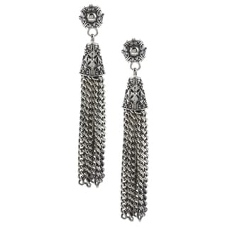 Madison Sterling Silver Tassel Dangle Earrings