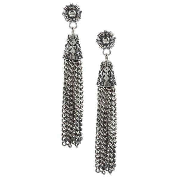 Madison Sterling Silver Tassel Dangle Earrings