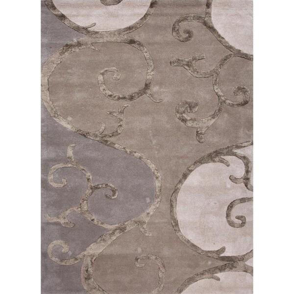 Hand-tufted Gold Wool/ Silk Rug (3'6 x 5'6)