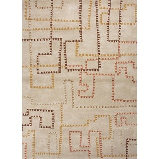 "Hand-Tufted Wool-and-Silk Area Rug (9'6"" x 13'6"")"