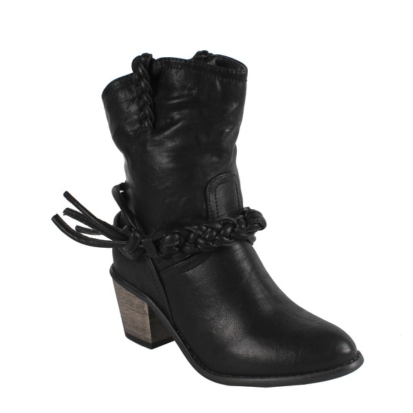 Liliana by Beston Women's 'Couture-4' Mid Calf Cowgirl Boots