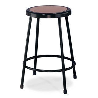National Public Seating Black Round Hardboard Seat Stool