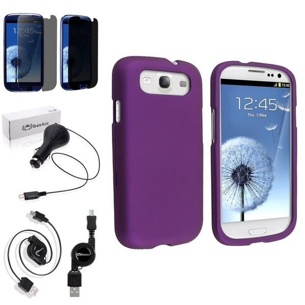 BasAcc Case/ Screen Protector/ Charger for Samsung© Galaxy S3