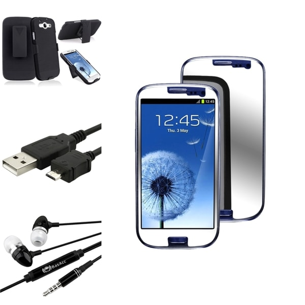 INSTEN Phone Case Cover/ Screen Protector/ Headset/ Cable for Samsung Galaxy S3