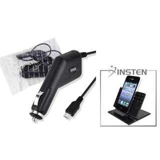 INSTEN Windshield Mounted Phone Holder/ Car Charger for HTC EVO 4G