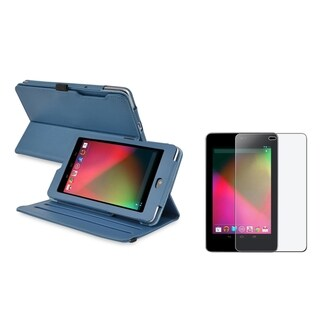 BasAcc Swivel Case/ Anti-glare LCD Protector for Google Nexus 7