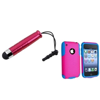BasAcc Hybrid Case/ Red Mini Stylus for Apple iPhone 3G/ 3GS