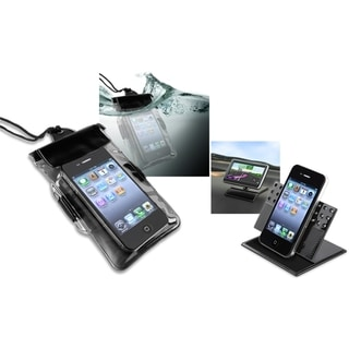 INSTEN Waterproof Bag/ Dashboard Phone Holder for HTC EVO 4G LTE