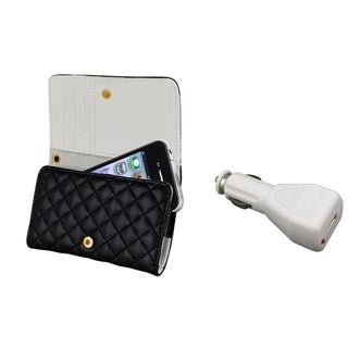 BasAcc Leather wallet Case/ Car Charger for Apple® iPhone 4/ 4S