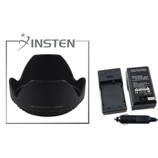 INSTEN Charger Set/ Lens Hood for Canon EOS Rebel T1i/ Xsi