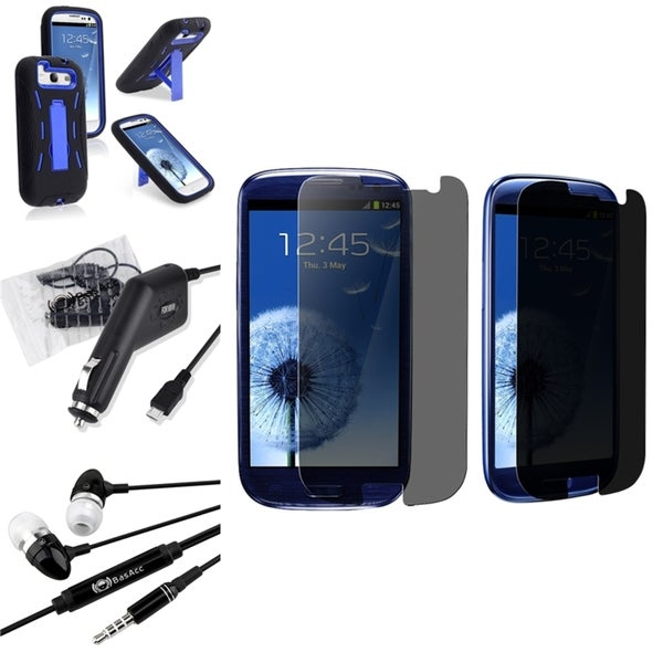 BasAcc Case/ Screen Protector/ Headset/ Charger for Samsung© Galaxy S3