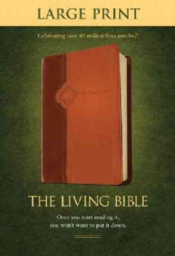 The Living Bible: Brown / Tan Tutone Leatherlike (Paperback)