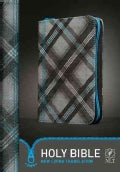 Holy Bible: New Living Translation, Blue Zipper, Plaid Canvas (Paperback)