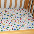 White Polka Dot Crib Sheet
