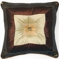 Pieced Olive 17-inch Pillows (Set of 2)