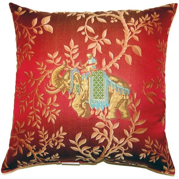 Juba Red 21 Inch Pillows (Set of 2)